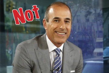 Not Matt Lauer