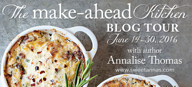 Make Ahead Kitchen blog tour banner